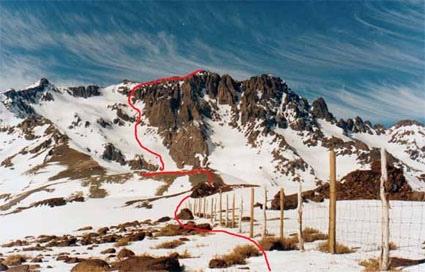 Ruta Normal (cara oeste) , Cerro Piuquencillo