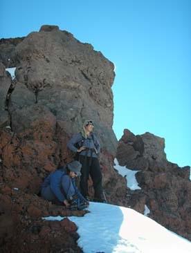 Cumbre y torreón de roca