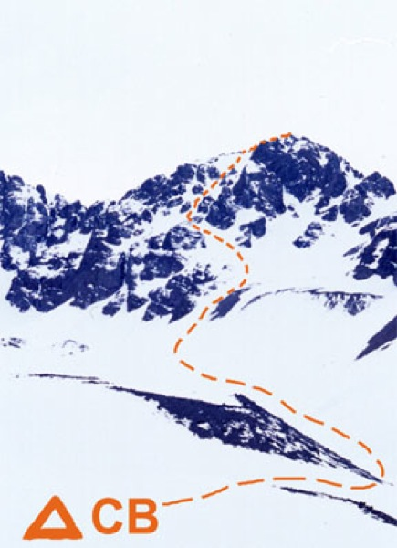 Cerro Punta Andino, ruta normal