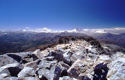 Paso de piedras visto desde la cumbre