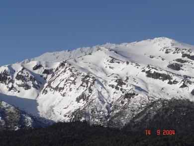 Sierra desde la laguna Conguillío