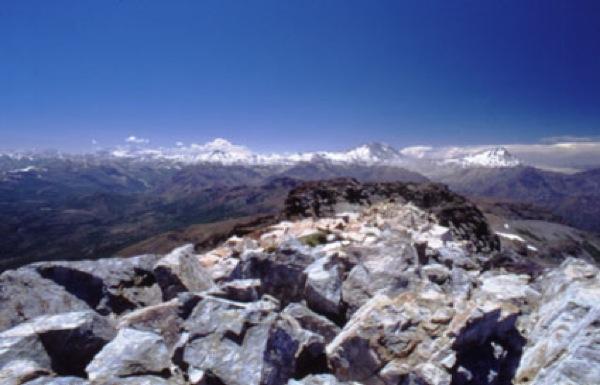 Pasada de piedras poco antes de la cumbre