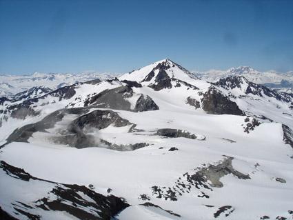 Vista hacia el volcán Peteroa