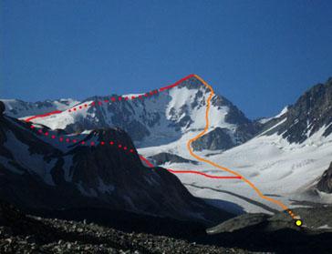 ruta de ascenso y gran parte del descenso