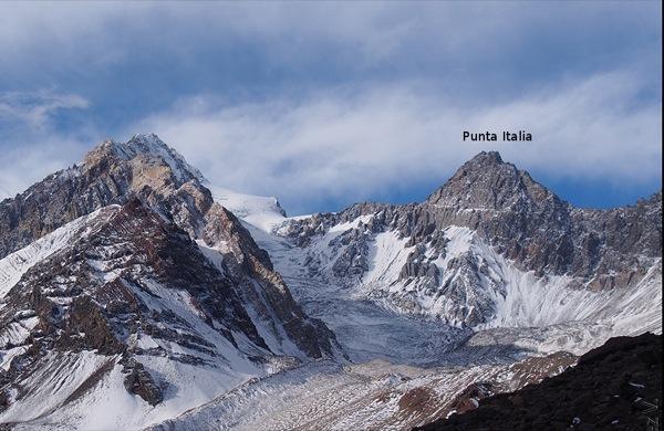 Punta Italia desde Laguna del Morado