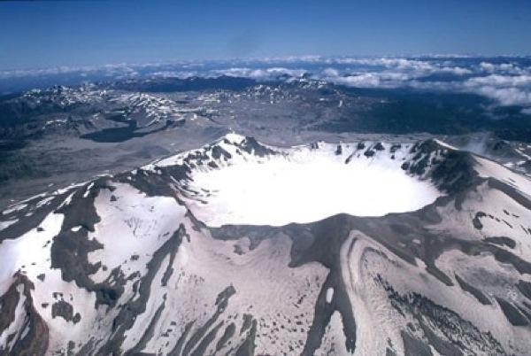 Cráter Puyehue aéreo.