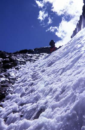 Paso de hielo en el Morado