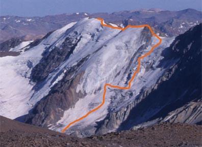 Glaciar Sureste de la Paloma