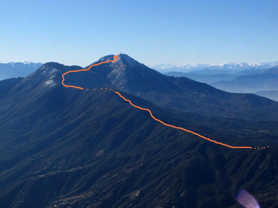 El Roble desde el cerro Vizcachas